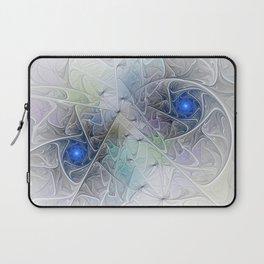 Little Blue Spirals Fractal Laptop Sleeve