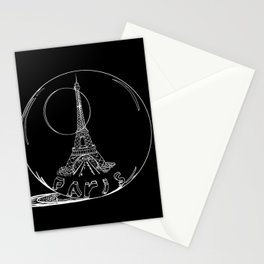 Paris city in a glass ball . Home decor, art prints Stationery Cards