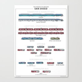 Guide - The Transit of Greater San Diego Canvas Print