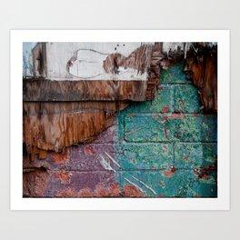 Cracks in Colour Art Print