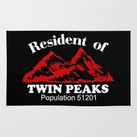 resident evil Area & Throw Rugs featuring Resident Of Twin Peaks by Spyck