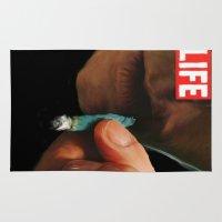 marijuana Area & Throw Rugs featuring LIFE MAGAZINE: Marijuana by Tia Hank