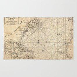 1683 Map of North America, West Indies, and Atlantic Ocean Rug