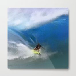 Zen and the Awesome Art of Surfing Metal Print