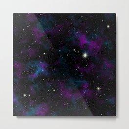 Blue and Purple Galaxy Metal Print
