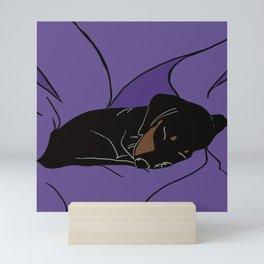 Sleeping Dachshund Puppy Mini Art Print