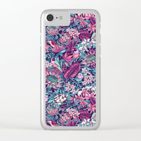 Stand Out! (electric blue) Clear iPhone Case
