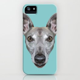 Whippet // Blue (Vespa) iPhone Case