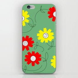 red and yellow coreopsis iPhone Skin