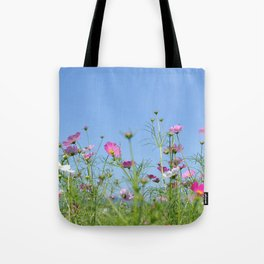 Colorful Cosmos Blue Sky Tote Bag