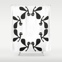 angels Shower Curtains featuring Angels by by Ingela