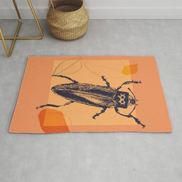 Beetle colors and leafs Rug