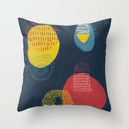 Colour and pattern - Abstract 1 Throw Pillow