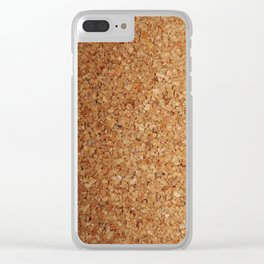 Towel thick Cork imitation Clear iPhone Case
