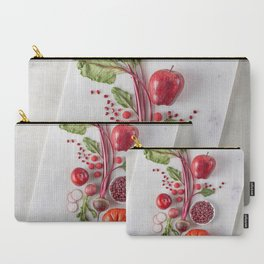 Red Organic Fruits and Vegetables Carry-All Pouch