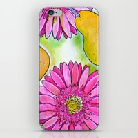 preppy iPhone & iPod Skins featuring Preppy Pears & Daisies by Limezinnias Design