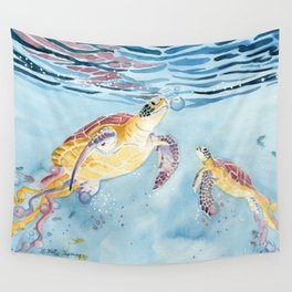 Take A Breath Sea Turtle Wall Tapestry