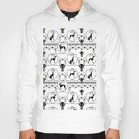 greyhound Hoodies featuring Deco Greyhound by naturessol