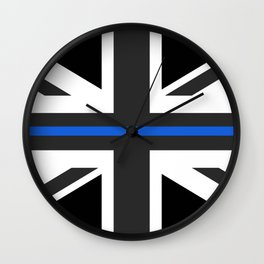 Thin Blue Line UK Flag Wall Clock