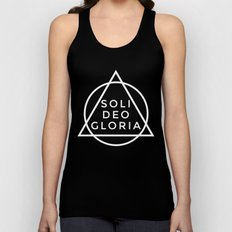 THE FIVE SOLAS: SOLI DEO GLORIA Unisex Tank Top