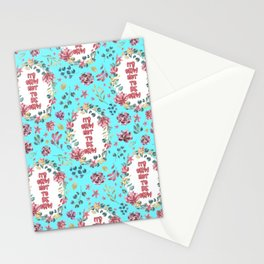 Its Okay Not To Be Okay - A Floral Pattern Stationery Cards