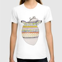 sweater T-shirts featuring Heart-sweater by Adele Manuti