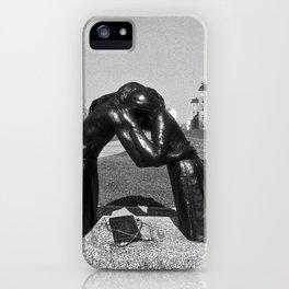 Reconciliation sculpture in East Berlin iPhone Case