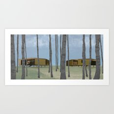 wood pavilion Art Print