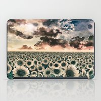 sunflowers iPad Cases featuring sunflowers by Bekim ART