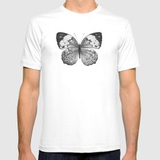 Butterfly MEDIUM Mens Fitted Tee White