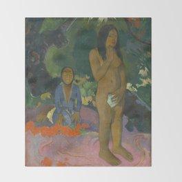 Paul Gauguin - Parau na te Varua ino (Words of the Devil) Throw Blanket