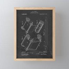 Photographic Film Strip 1918 Vintage Patent  Framed Mini Art Print