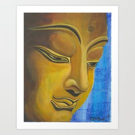 Thoughtful Buddha Art Print