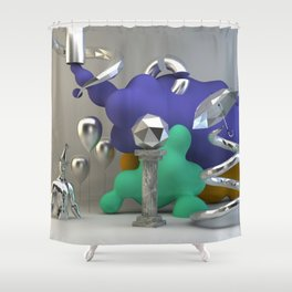 Poly Fume 01 Shower Curtain