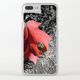 Something Fleeting Clear iPhone Case