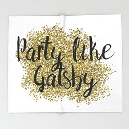 Party like Gatsby - golden jazz Throw Blanket