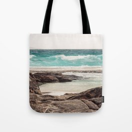 Watching the Waves Roll In Tote Bag