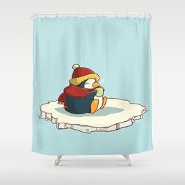 Happy Penguin Shower Curtain