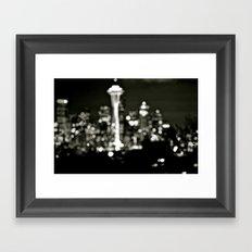 Seattle Bokeh Framed Art Print