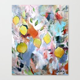When Life Gives You Lemons, Paint Them Canvas Print