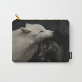 Wolves - Yin & Yang (Digital Drawing) Carry-All Pouch