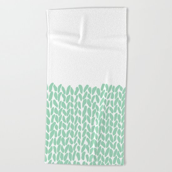 Half Knit Mint Beach Towel