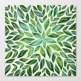 Spring Leaf Mandala Canvas Print