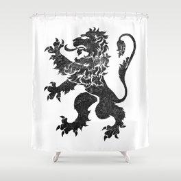 Lion Rampant - Black Weathered Shower Curtain