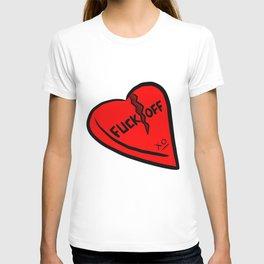 Fuck Off Candy Heart T-shirt