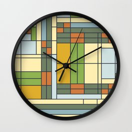 Frank lloyd wright pattern S01 Wall Clock