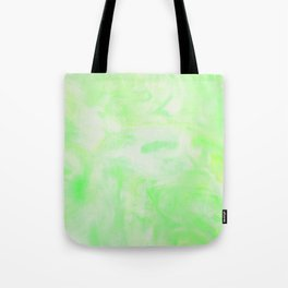 Neon Green Marble Tote Bag