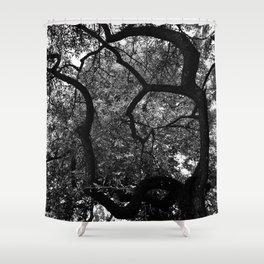 Om Tree Shower Curtain