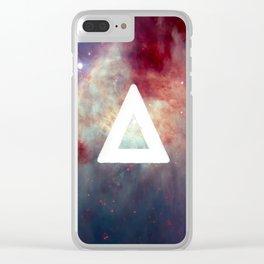 Bastille Galaxy Triangle Clear iPhone Case
