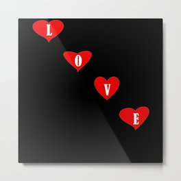 Love Heart Valentines Day Gift Metal Print